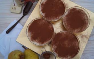 Tiramisu poire-pain d'épices