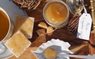Confiture de poire au gingembre confit