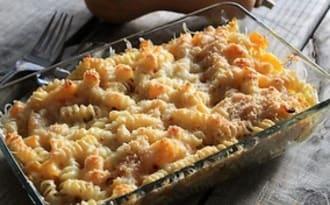 Gratin de pâtes butternut et comté