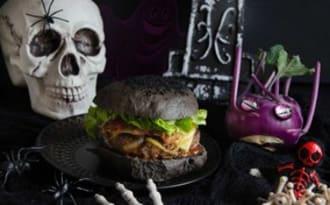Pains à burger noir maison pour Halloween