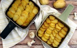 Gratin de poulet au cidre et pommes de terre