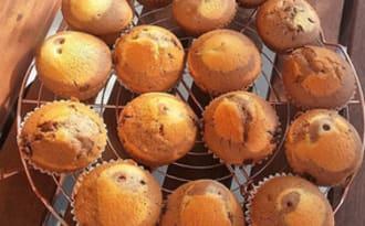 Muffins marbrés chocolat et vanille