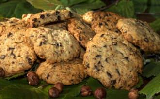 Cookies aux gavottes, noisettes torréfiées