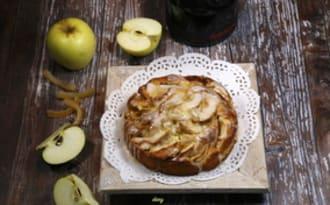 Gâteau aux pommes cannelle et orange confite
