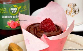 Cupcakes chocolat framboises