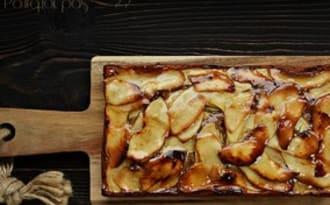 Cake pommes, calvados, farine de châtaigne