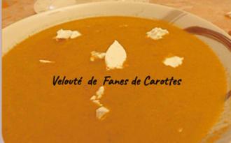 Velouté de fanes de carottes, fromage frais