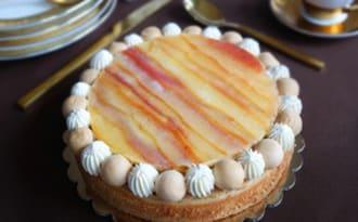 La tarte pommes caramel
