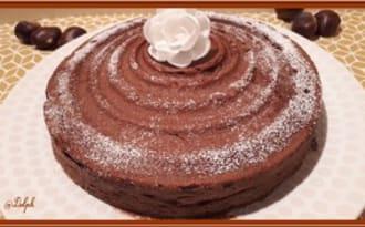 Ultra fondant au chocolat et crème de marron