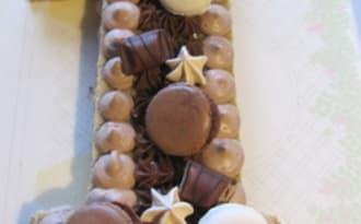 Number cake au chocolat au lait et gianduja