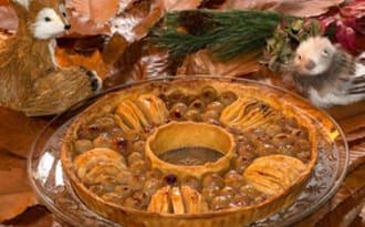 Tarte couronne aux fruits d'automne