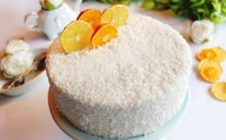 L'Entremets noix de coco et citron Yuzu