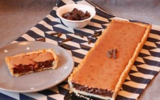 Tarte au chocolat soufflé et au poivre long