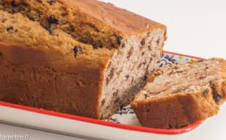 Gâteau du matin à la crème de châtaignes et aux pépites de chocolat