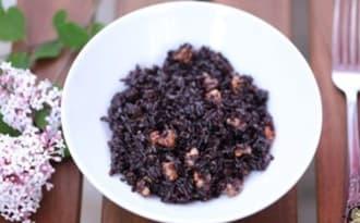 Riz noir complet aux noix
