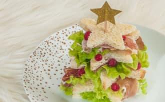 Sandwich apéro facile en forme de sapin