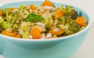 Salade de blé au carotte et brocolis