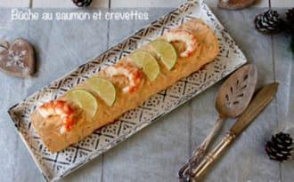 Bûche au saumon et crevettes