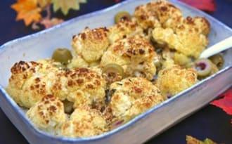 Chou-fleur grillé aux olives Bio et sésame