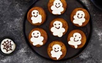 Muffins fantômes à la courge et à l'huile de tournesol Bio