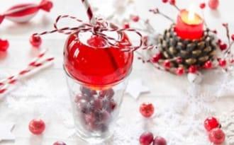 Cocktail de Noël aux cranberries sans alcool