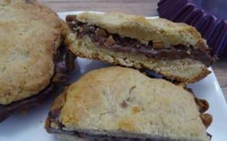 Cookies au caramel et pâte à tartiner au chocolat