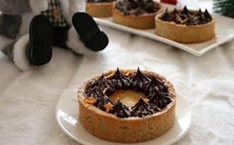 Tartelettes au curd de clémentines et chocolat