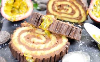 Bûche roulée chocolat passion