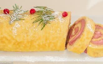 Bûche au limoncello, framboises et mascarpone