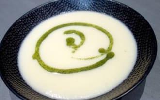 Soupe panais huile de persillade