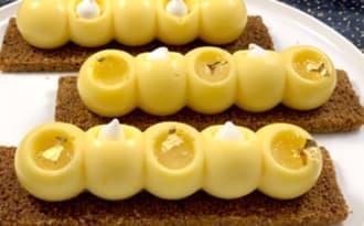 Petites bûches individuelles façon tarte au citron