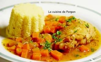 Poulet aux carottes, mijoté à la Leffe
