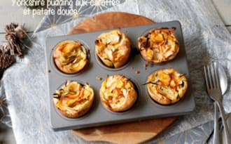 Yorkshire pudding aux carottes et patate douce