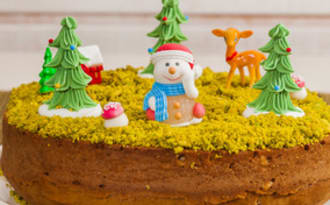 Gâteau du matin de Noël aux noix et aux pistaches