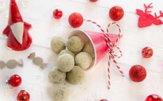 Truffes au chocolat noir et thé vert Matcha, cadeau gourmand