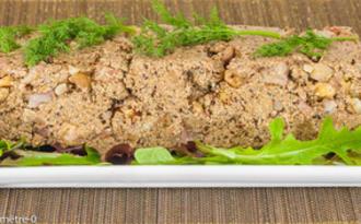 Terrine végétale aux cèpes, châtaignes et noisettes