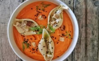 Conchiglioni farcis et crème courge-carotte-orange