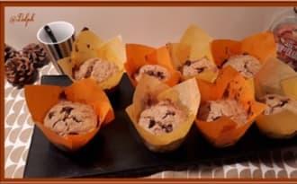 Muffins aux flocons d'avoine sirop d'érable et chocolat