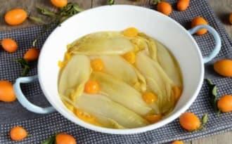 Endives confites au kumquat et baies de genièvre