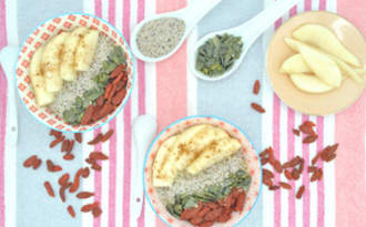 Porridge pomme poire et graines