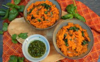 Purée de patates douces et sauce aux herbes et citron vert de Yotam Ottolenghi