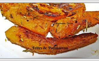 Frites de potimarron à la fleur de sel aux herbes de Provence