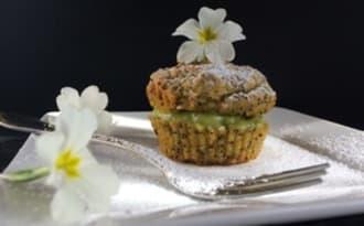 Cupcake avocat pavot et crème d'avocat