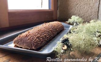Bûche express marron chocolat