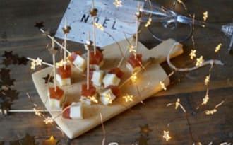 Bouchées de fromage de brebis et pâte de coing
