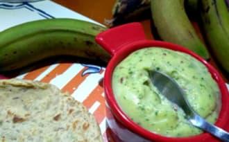 Mayonnaise de biomasse de banane verte et persil
