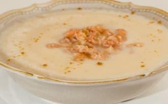 Soupe de chou fleur aux crevettes