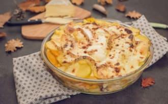 Gratin de pomme de terre, butternut et Saint Nectaire