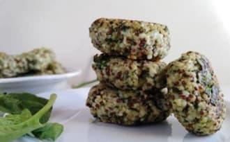 Croquettes de quinoa aux épinards