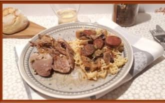 Cuisses de Dinde au Chorizo et Champignons